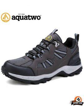 รองเท้าเดินป่า กันน้ำ aquatwo รุ่น304-สีเทา