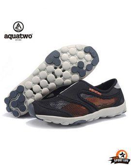 รองเท้าลุยน้ำ ลงน้ำ aquatwo รุ่น503-สีดำส้ม