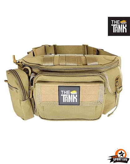 กระเป๋าคาดเอว Gu27-กันน้ำ-เดินป่า-สีทราย