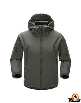 เสื้อแจ็คเก็ต สไตล์แทดเกียร์-เทา