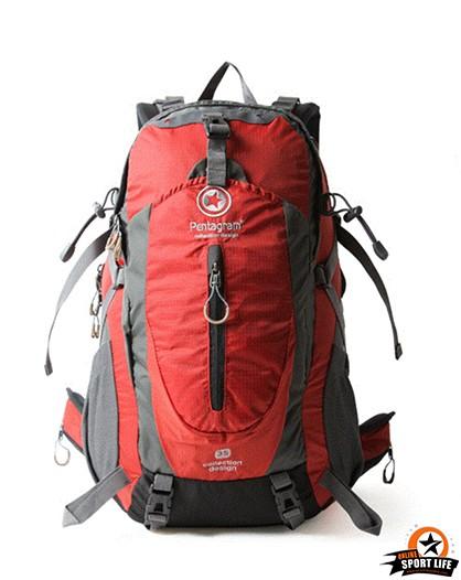 กระเป๋าเป้ กระเป๋าสะพายหลัง เดินทาง ยี่ห้อ Pentagram จุ 50L-แดง
