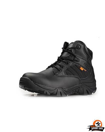 รองเท้าทหาร เดินป่า ขับบิ๊กไบค์ ข้อสั้น - สีดำ