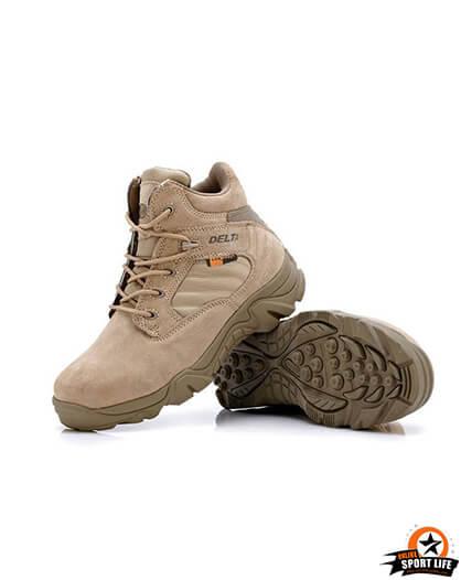 รองเท้าทหาร เดินป่า ขับบิ๊กไบค์ ข้อสั้น - สีทราย
