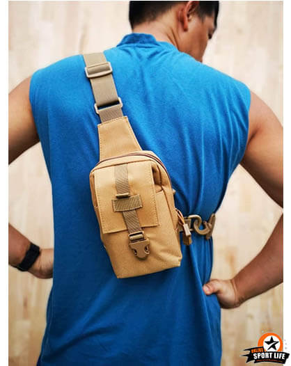 กระเป๋าคาดอก คาดเอว ได้ทั้งซ้ายและขวา Mini bag - สีทราย